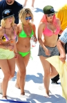 'Spring Breakers' cast leaving the set in Florida